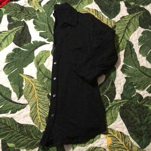 Express 3/4 sleeve button down